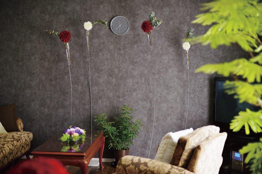 装花も手がけるIさんのセンスが光る和みの空間をデザイン