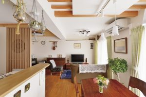 家族構成の変化に伴い、夫婦ふたりのゆとりある住空間に