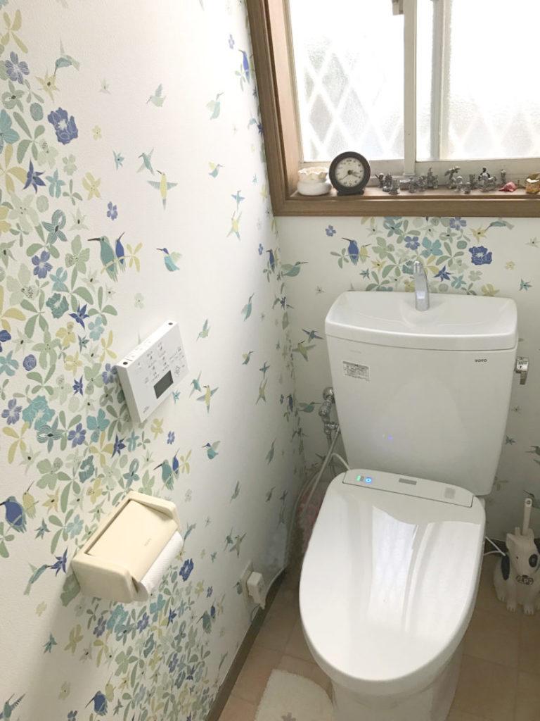 北欧風壁紙 トイレ施工事例